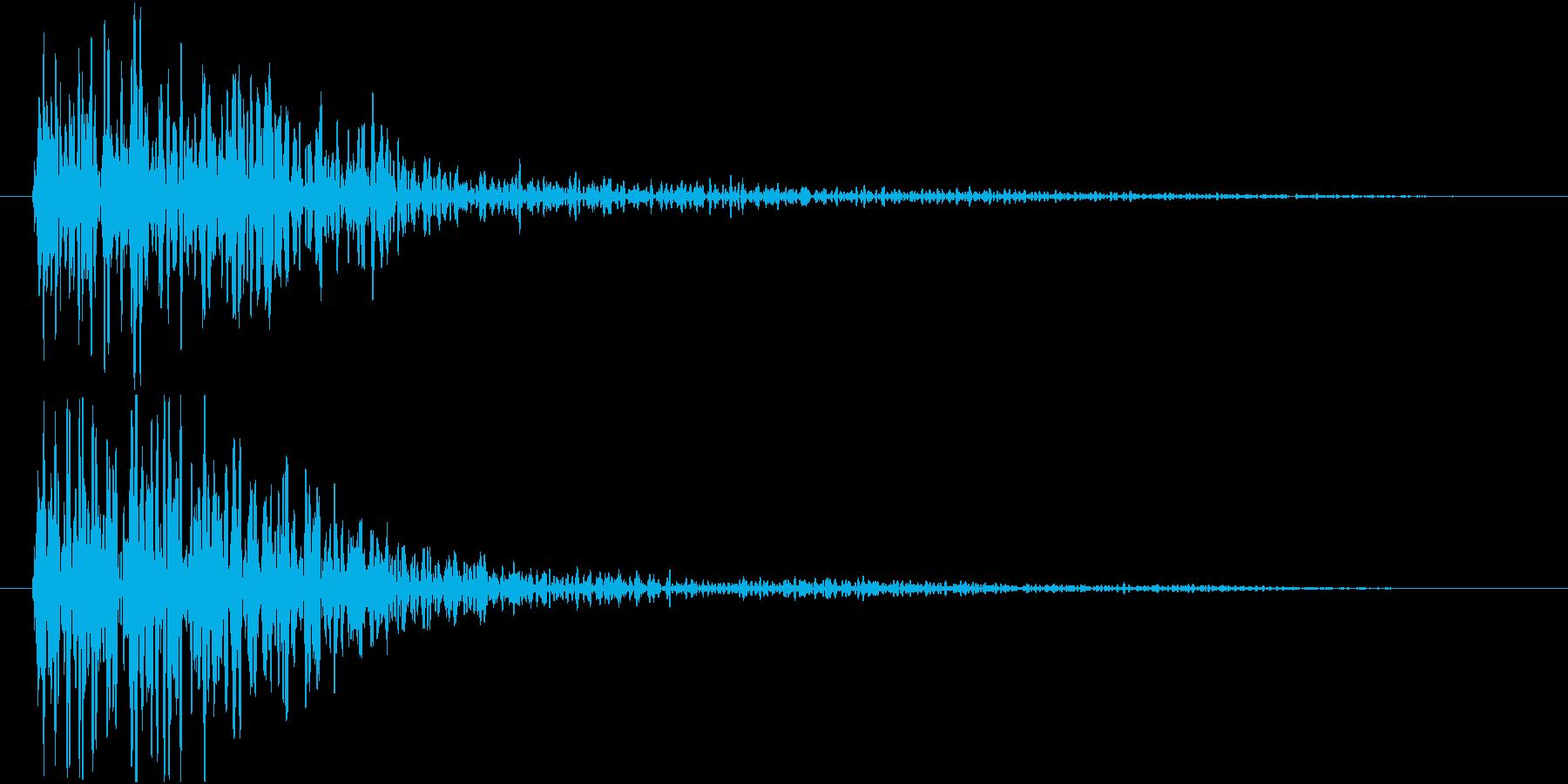 ドーン(映画予告・低音・インパクトSE)の再生済みの波形