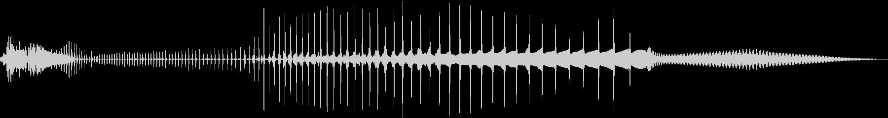 発射音1 レーザーエネルギーチャージの未再生の波形