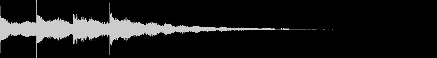 アナウンスのベルの未再生の波形