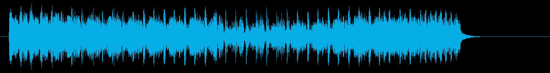 アップテンポでノリノリなポップジングルの再生済みの波形