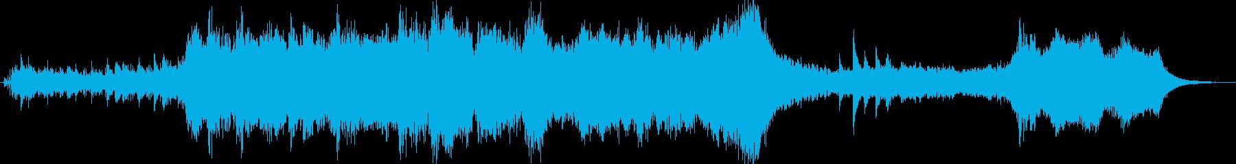 ファンタジックなオーケストラのジングルの再生済みの波形