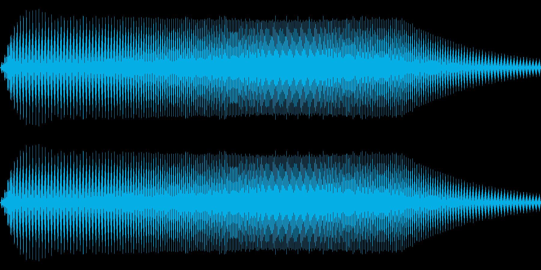 キュウィン⤴⤵の再生済みの波形