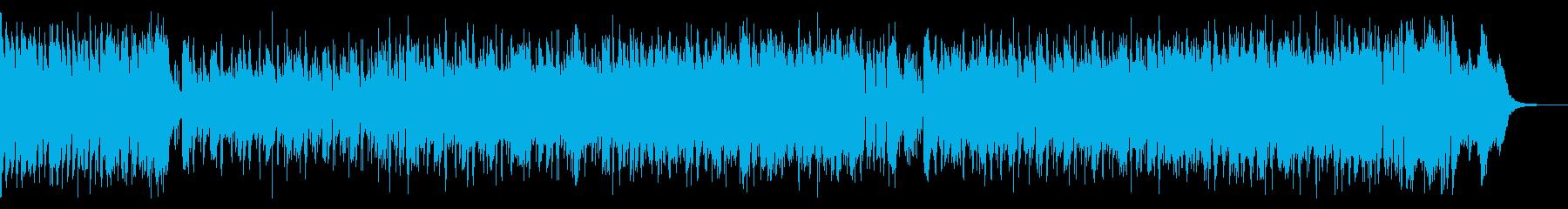 スピード感あってにぎやかな音楽の再生済みの波形