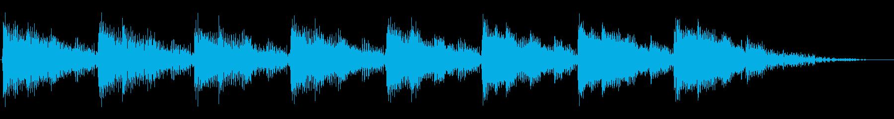 動力系機器の正常運転音をイメージさせる音の再生済みの波形