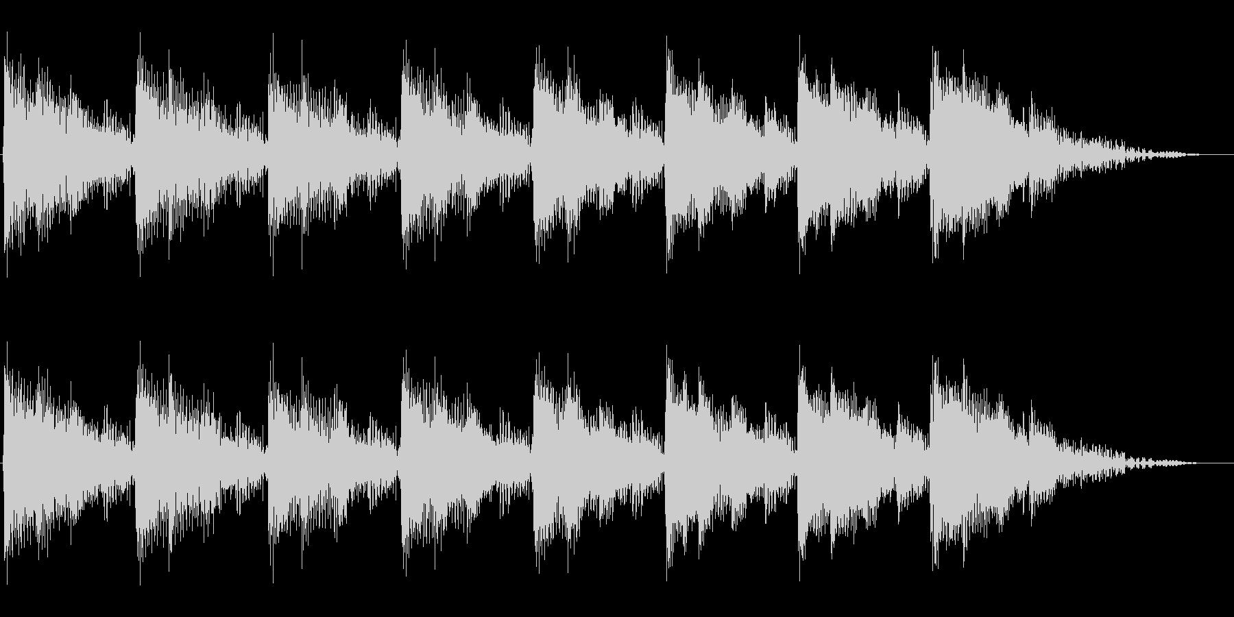 パワー系機器の運転音をイメージさせる音の未再生の波形