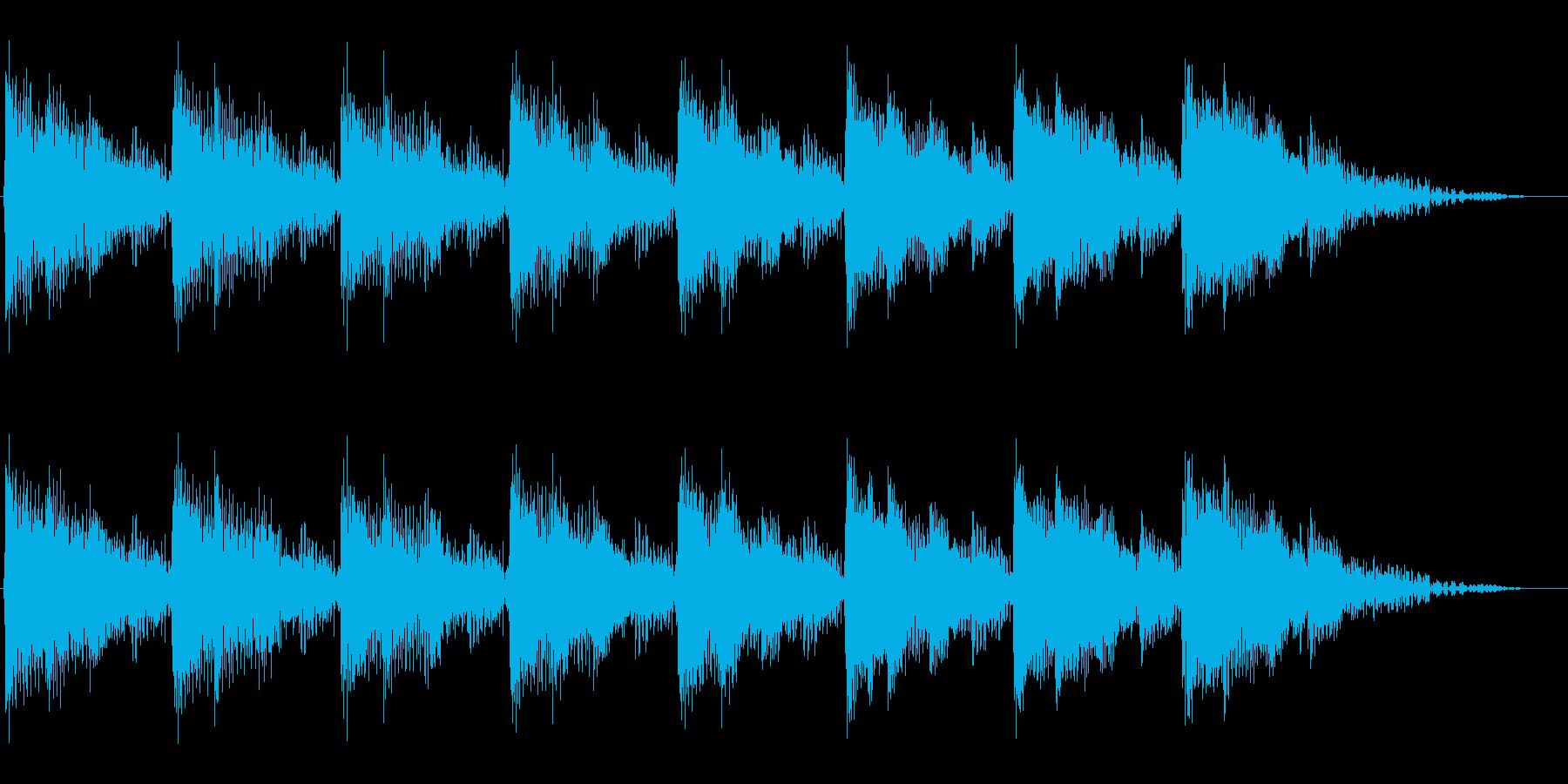 パワー系機器の運転音をイメージさせる音の再生済みの波形