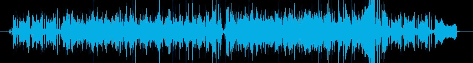 ガットギターが旋律を弾くボサノヴァ風の曲の再生済みの波形