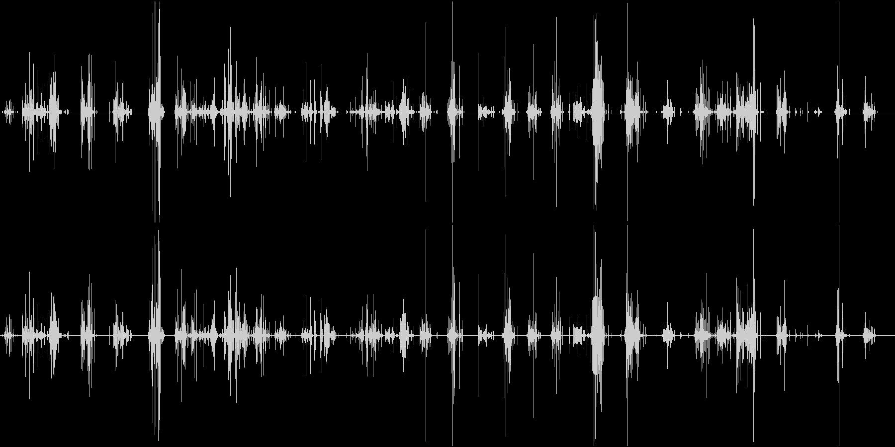 【生録音】ASMR 新聞紙の音 ノイズの未再生の波形