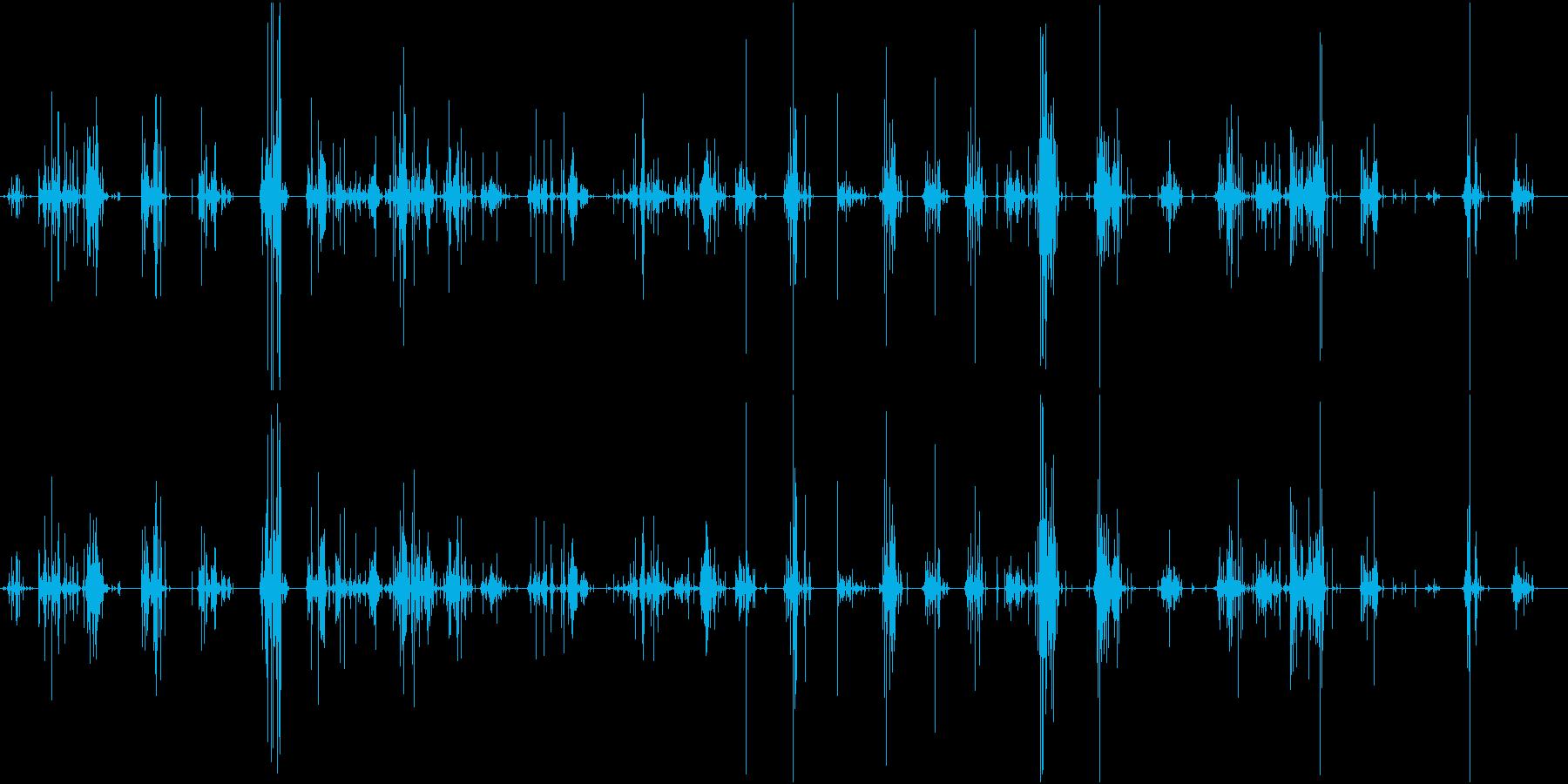 【生録音】ASMR 新聞紙の音 ノイズの再生済みの波形