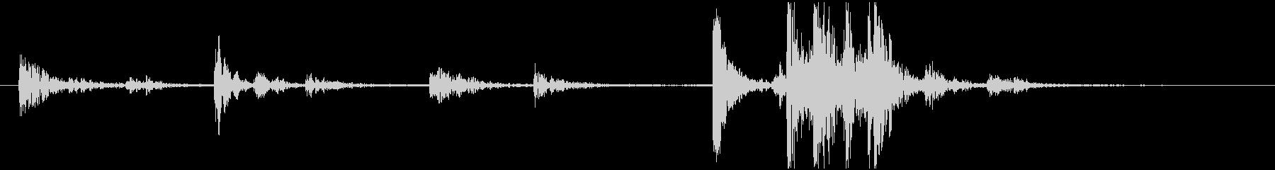 デスクフォン:受話器を置くの未再生の波形