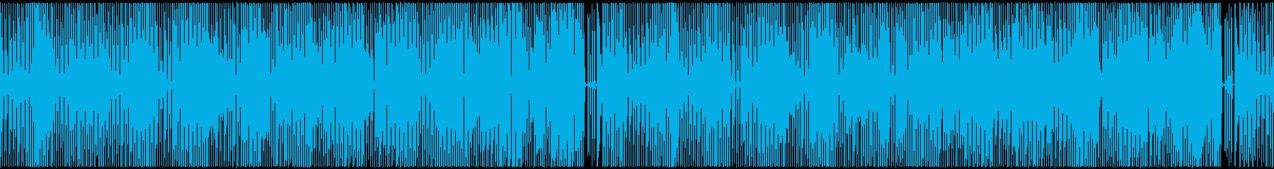 ドタバタした明るく弾むようなシンセBGMの再生済みの波形
