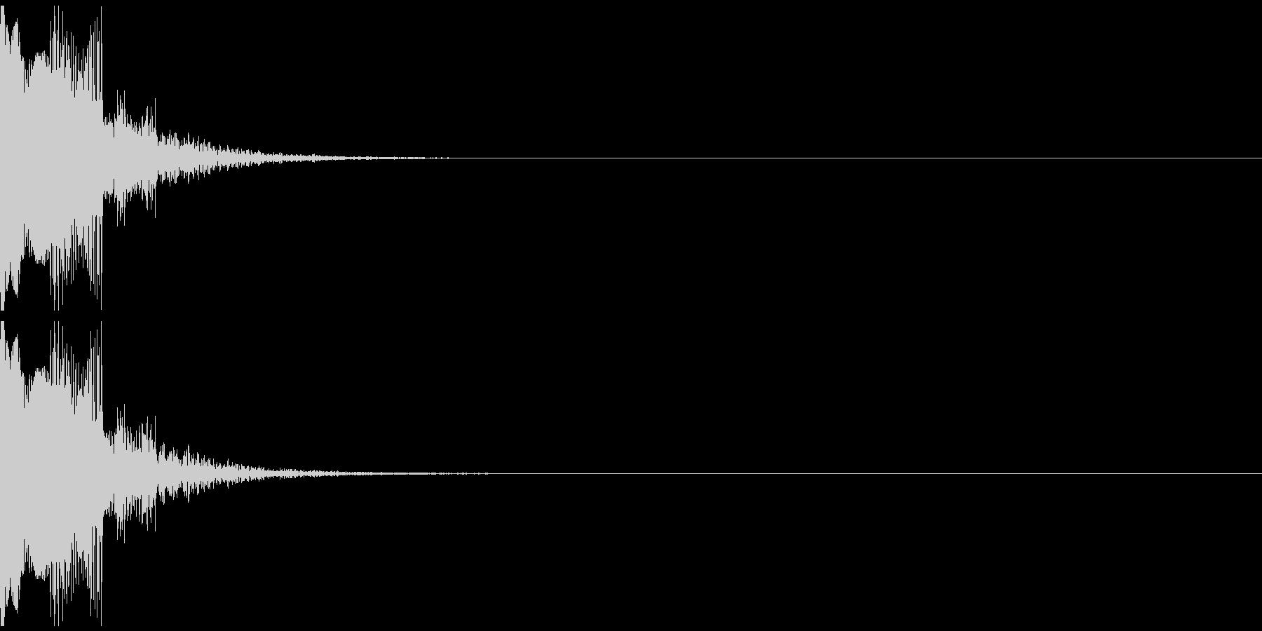 ぴゅーん(ショット音、選択音)の未再生の波形