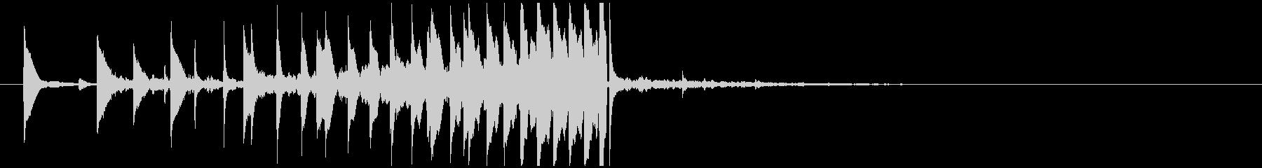 インパクトあるサウンドロゴ ポップクールの未再生の波形