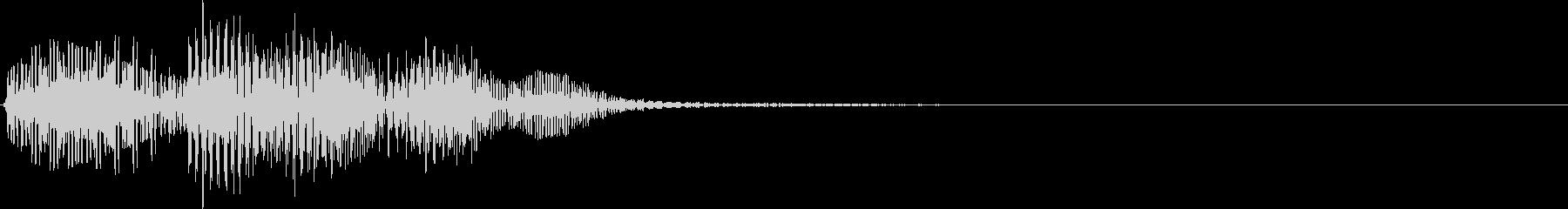 ピロン・決定音・選択音・シンプルの未再生の波形