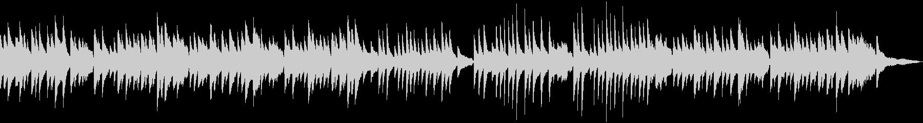 童謡「赤とんぼ」のソロピアノの未再生の波形