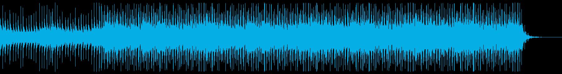 トロピカルなエレクトロビートの再生済みの波形