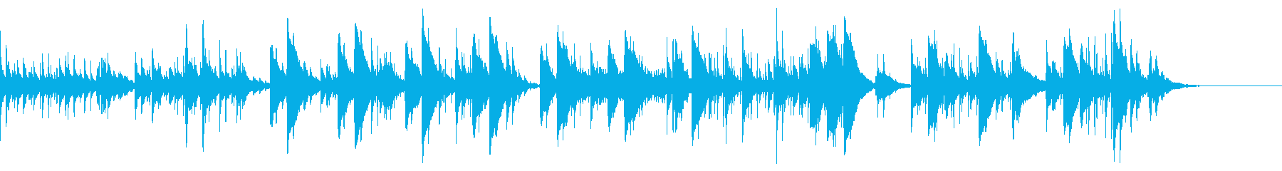優しくてさわやかなピアノの曲の再生済みの波形