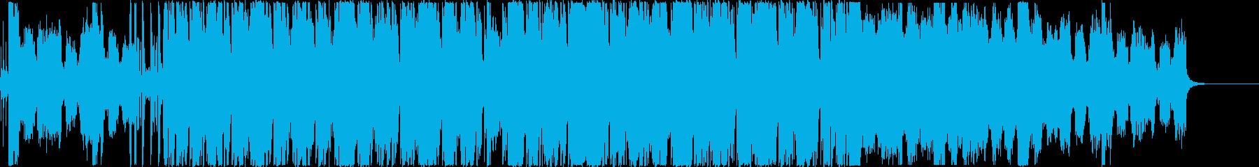 疾走感あるオーケストラのボス戦闘曲の再生済みの波形
