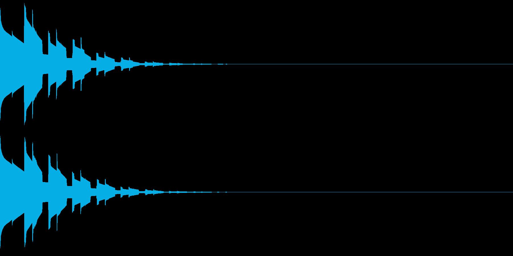 キラキラ(星、宝石、光る音)の再生済みの波形