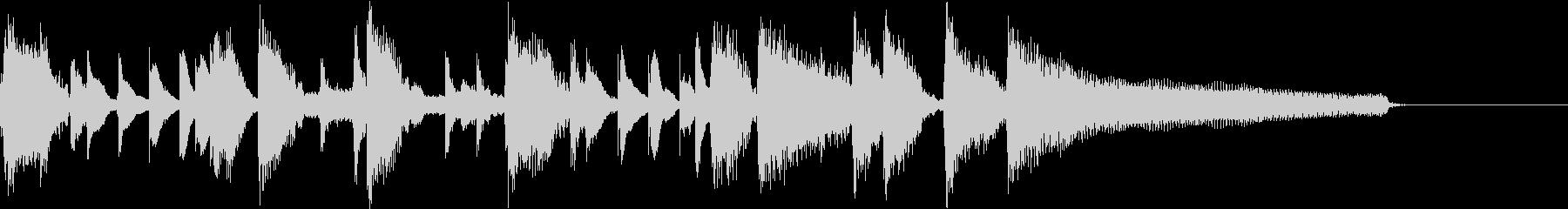 15秒】明るくポップ、ノリの良いピアノの未再生の波形