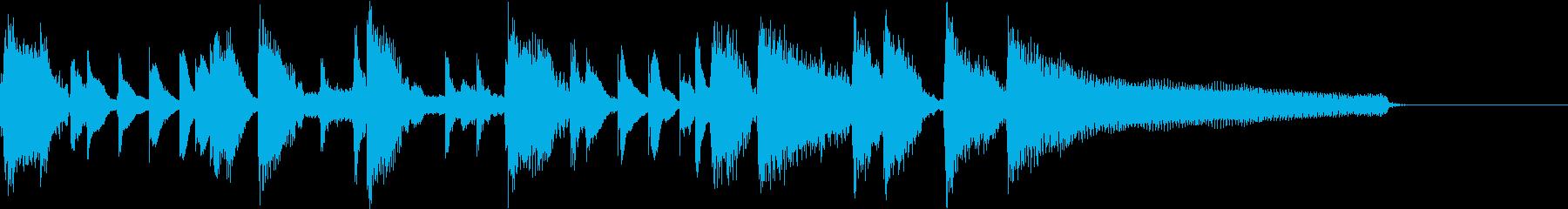 15秒】明るくポップ、ノリの良いピアノの再生済みの波形