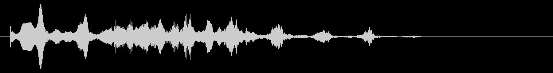 不可思議な音色の場面転換orアイキャッチの未再生の波形