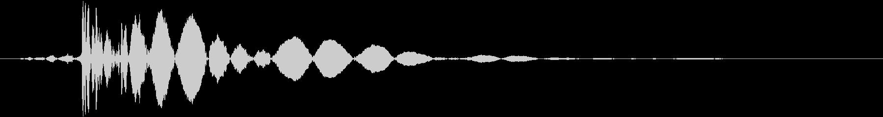 「ドス」野球の捕球音(重めB)の未再生の波形