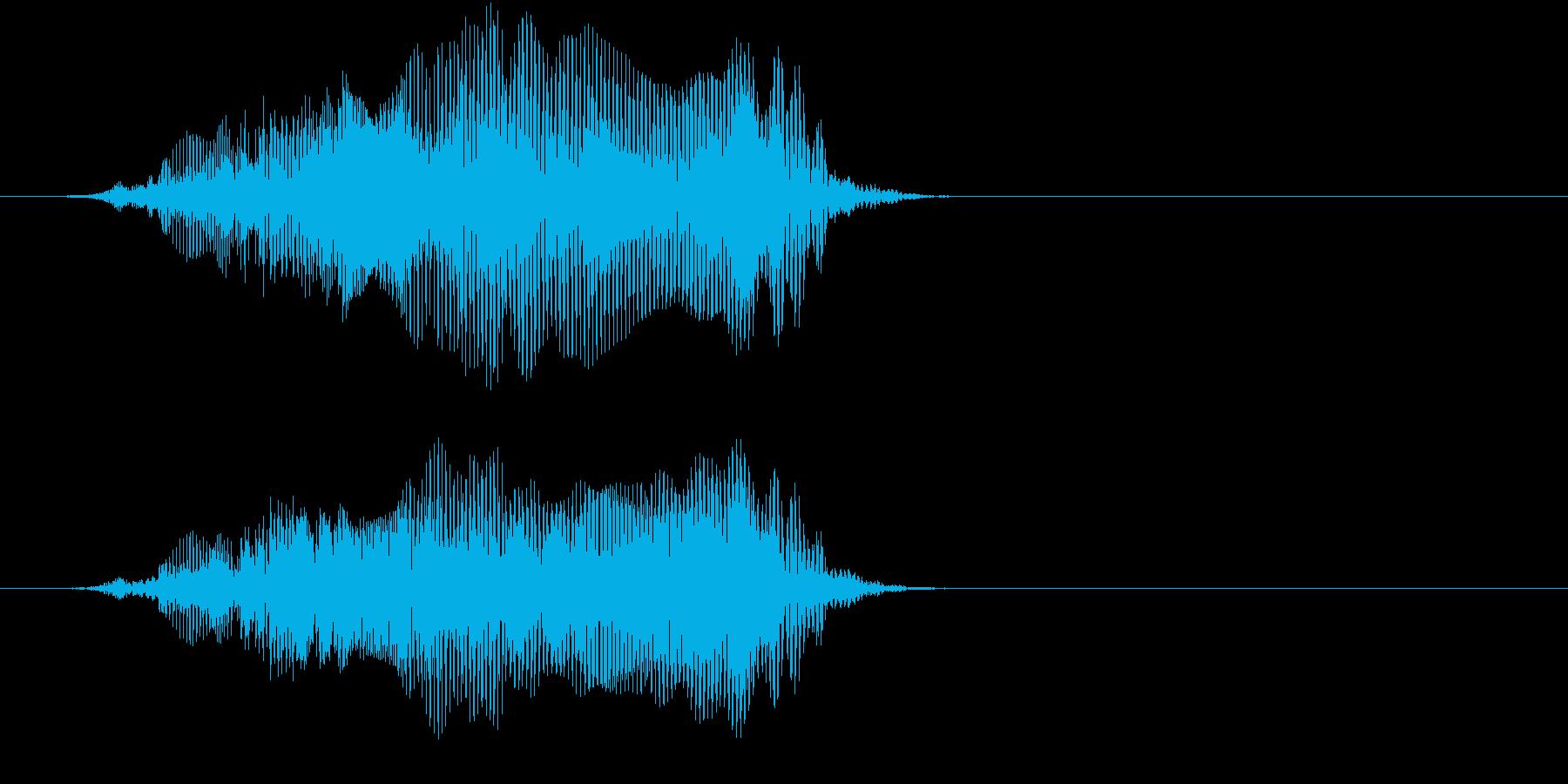 「猫の鳴き声007」にゃーおver5の再生済みの波形