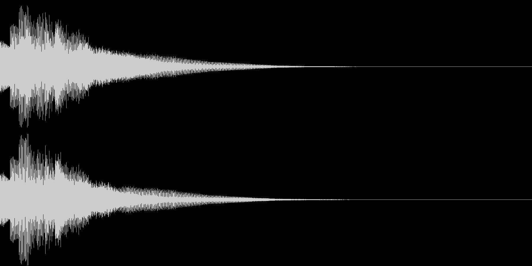 不思議な感じのジングル 場面転換 1の未再生の波形
