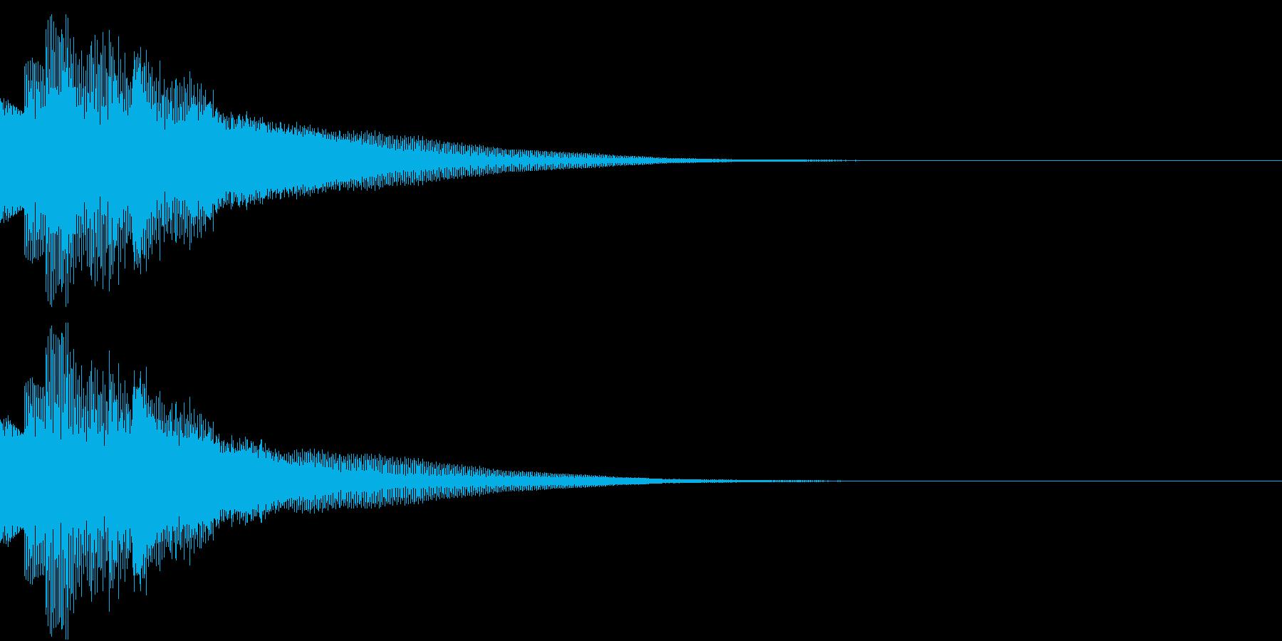 不思議な感じのジングル 場面転換 1の再生済みの波形