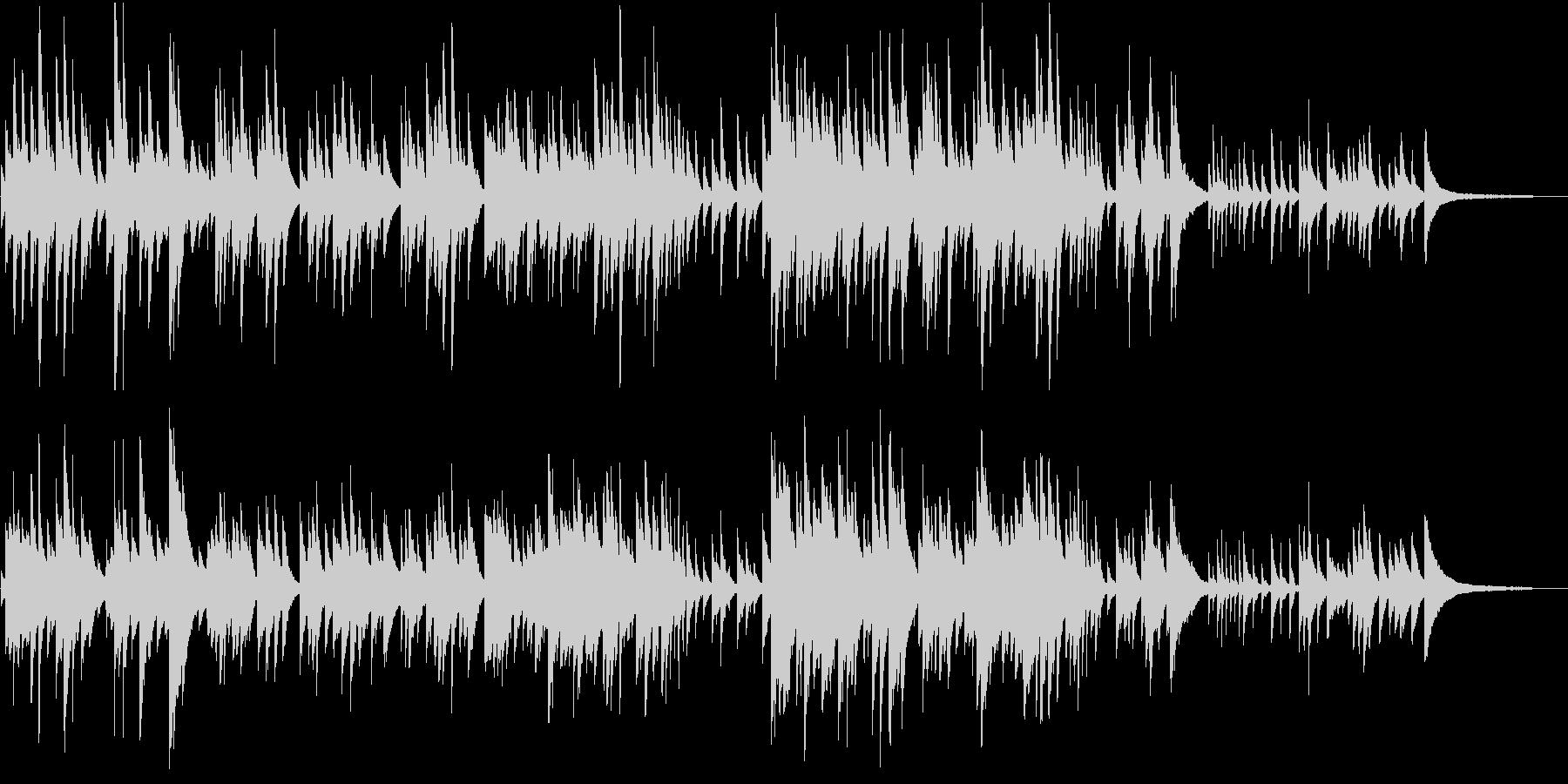ヒーリング系 優しいピアノソロ 09の未再生の波形