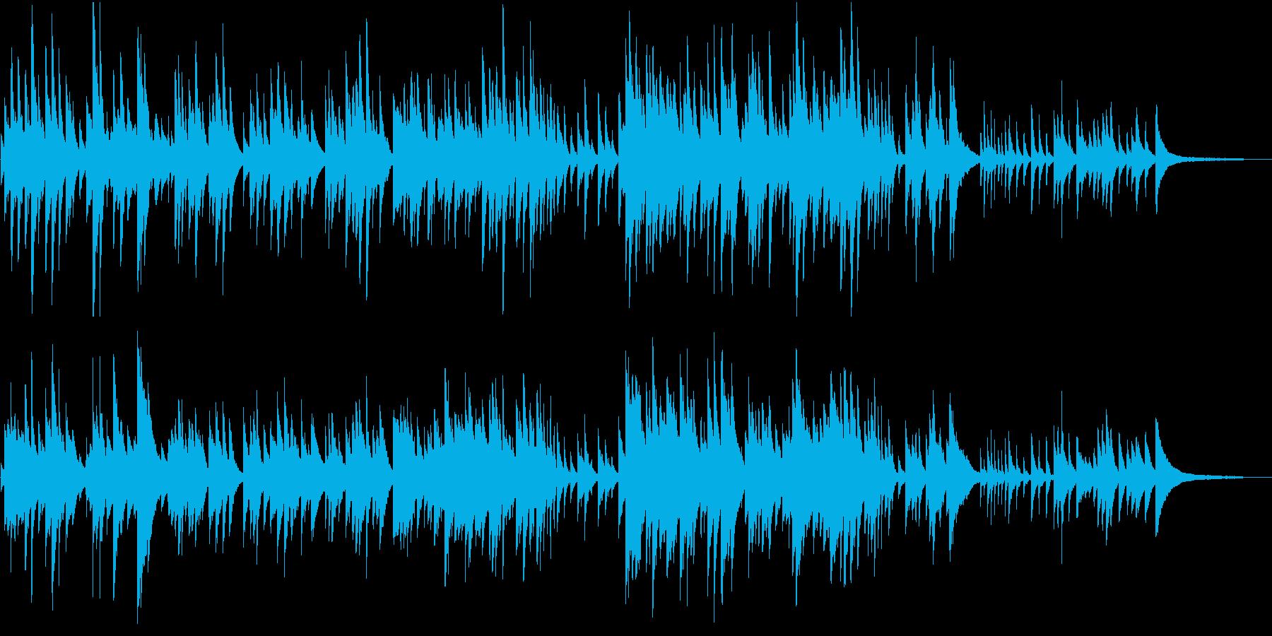 ヒーリング系 優しいピアノソロ 09の再生済みの波形