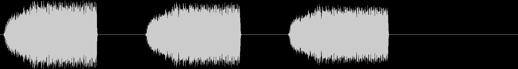 不安になるサイレン音の未再生の波形