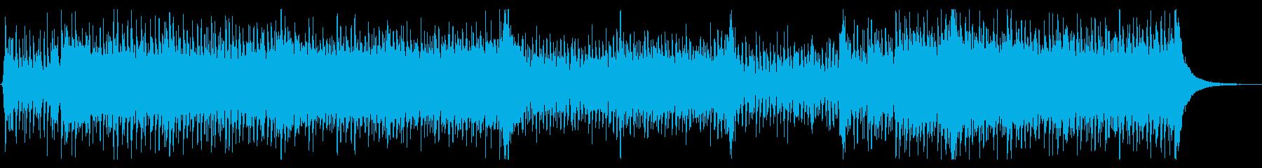 スラップベースと和太鼓の再生済みの波形