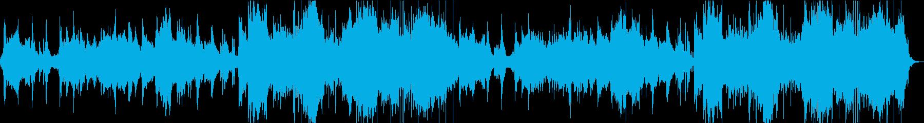 ゆったりとしたアラビアンなBGMの再生済みの波形