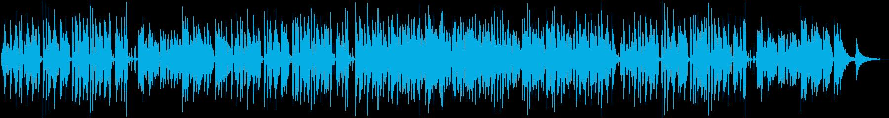 明るく軽快ジャズピアノトリオ ウキウキ感の再生済みの波形