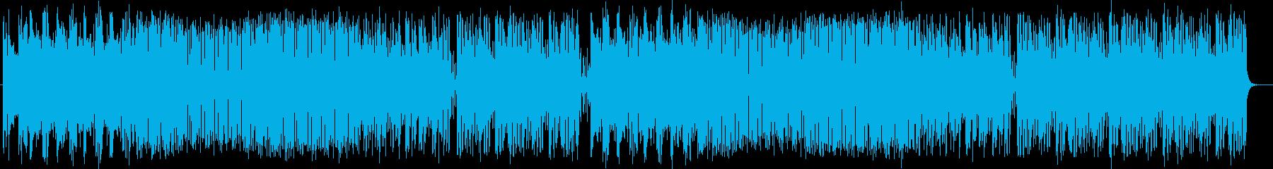 爽やかなシンセサイザーなどの曲の再生済みの波形