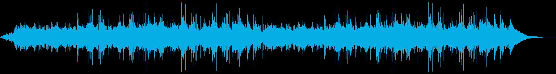 アコギのイージーリスニング系BGMの再生済みの波形