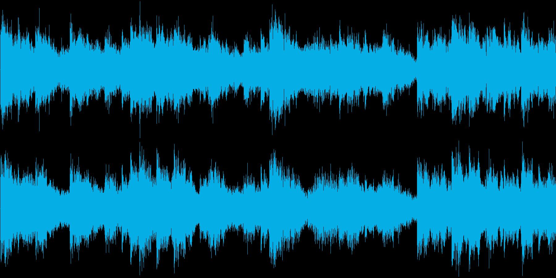 明るい雰囲気の短めのループ楽曲です。の再生済みの波形