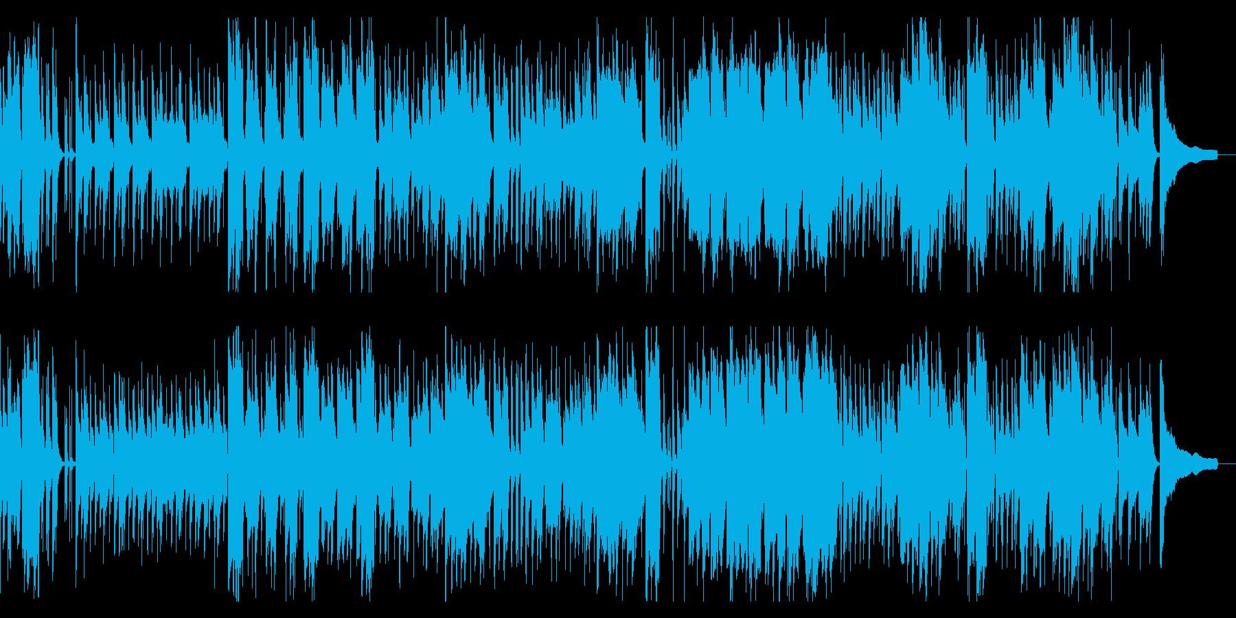 ぶらり旅をイメージしたほのぼの和風曲の再生済みの波形