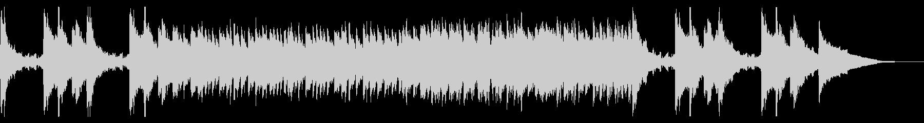 しっとり切ないピアノ旋律によるバラードの未再生の波形