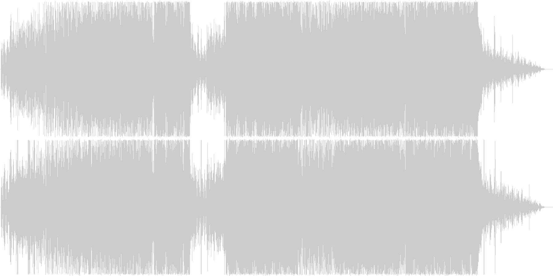 デジタルプログレファンクロックの未再生の波形