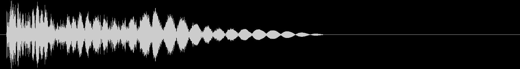 ビシッ(物理攻撃・タップ・害虫退治)の未再生の波形