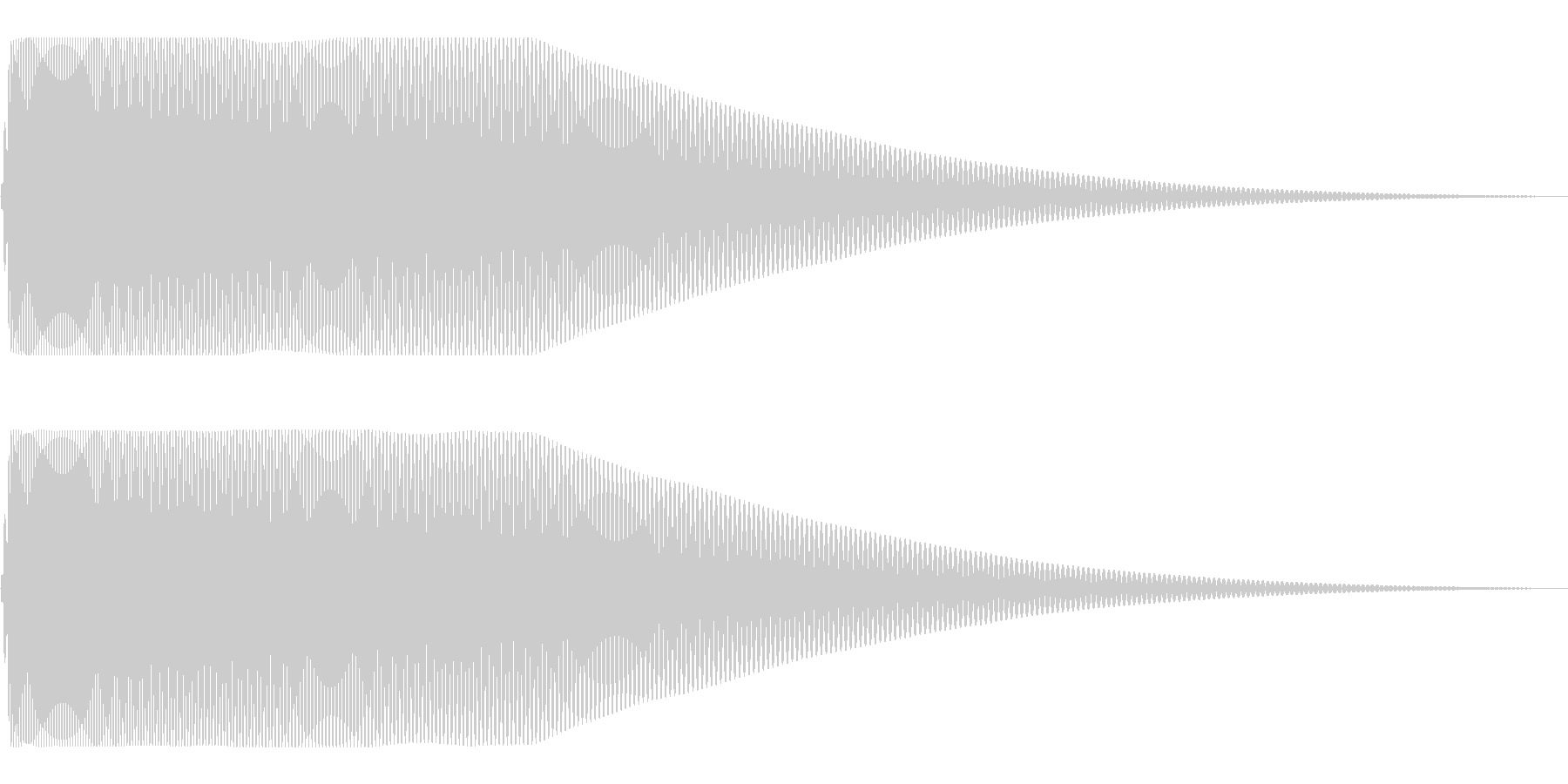 落下系 ドゥーンの未再生の波形
