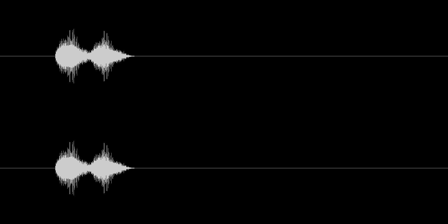短いボタン音です。アラーム音など、警告…の未再生の波形