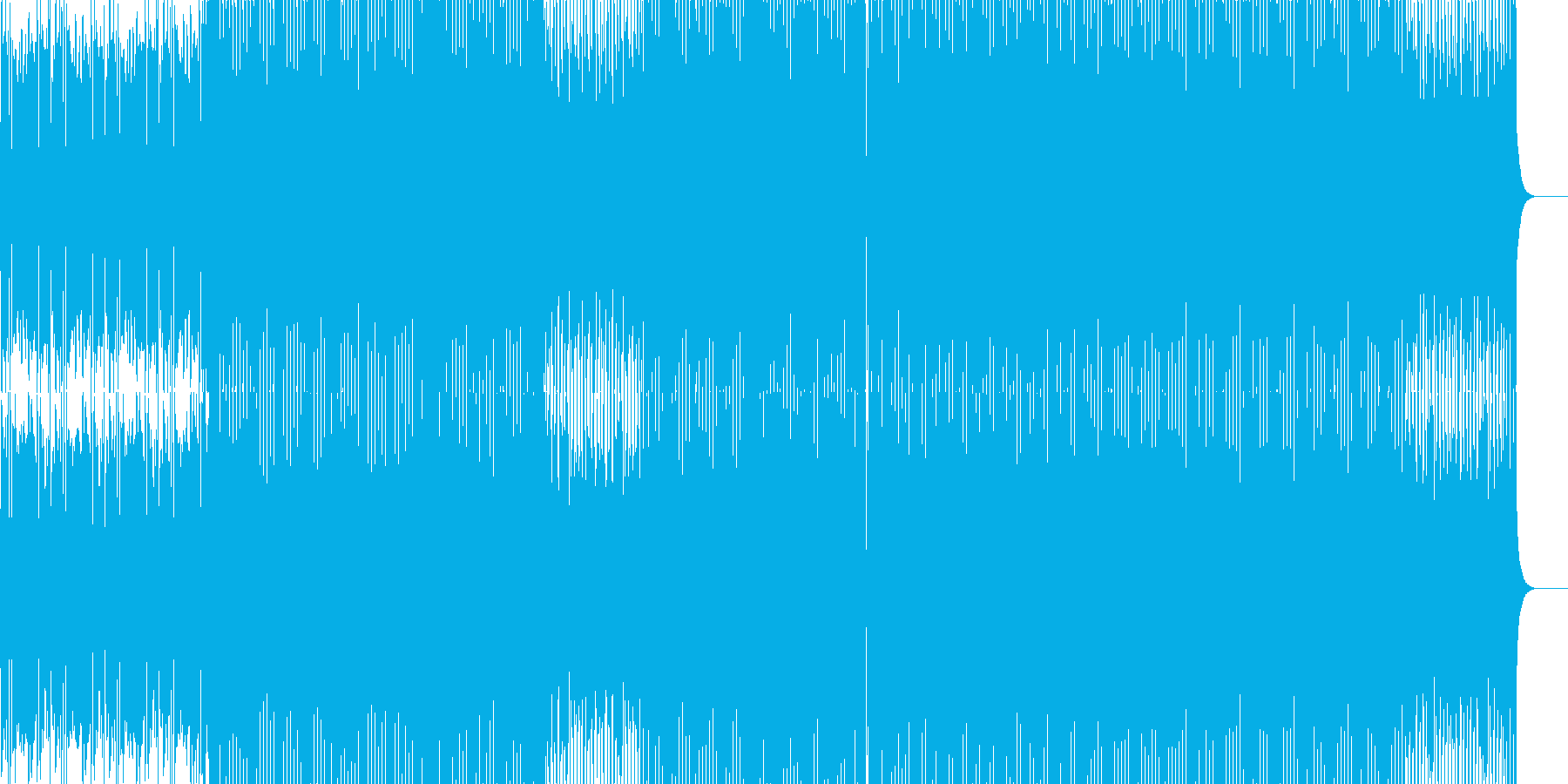 アニメ映像系を連想させる知的なエレクトロの再生済みの波形