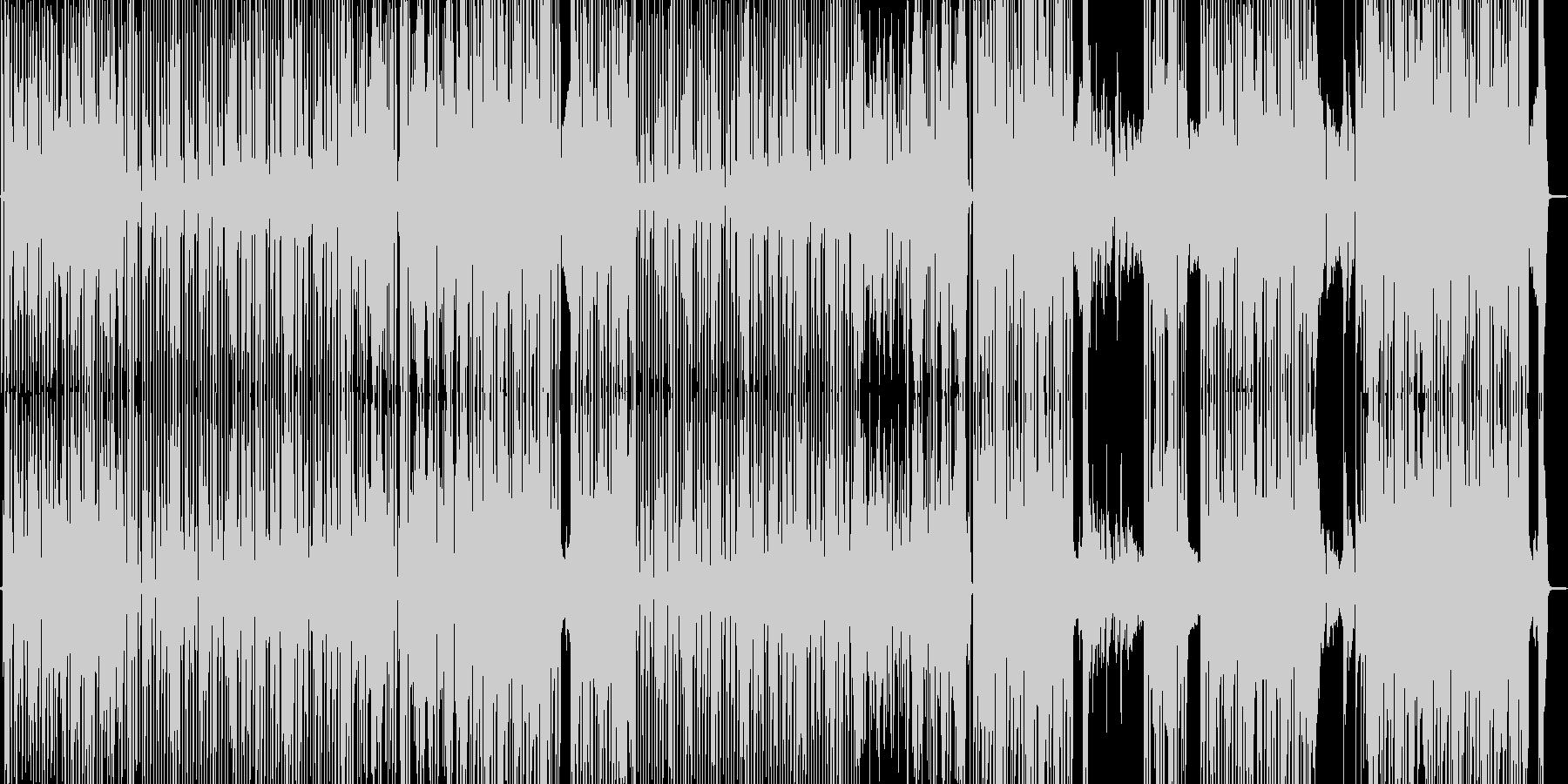 路地裏・ファンキーなヒップホップの未再生の波形