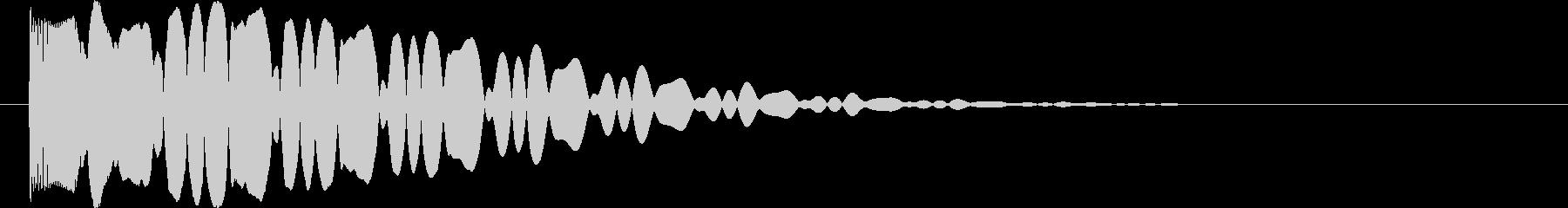 キュイーン(パチスロで当たった時の音)の未再生の波形