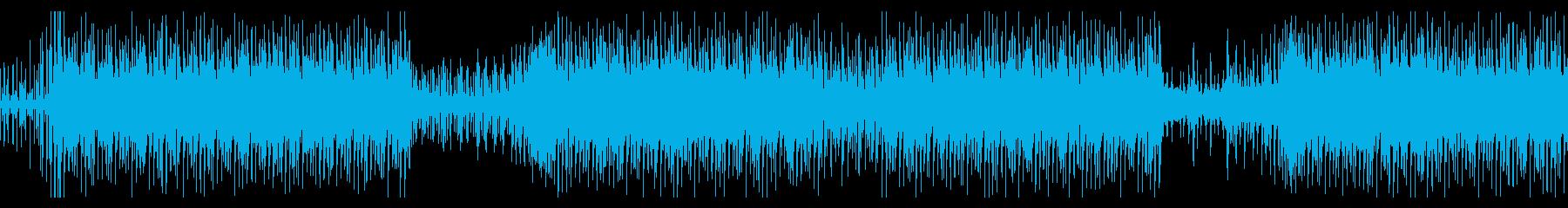 妖しい雰囲気のラテンハウス風楽曲の再生済みの波形