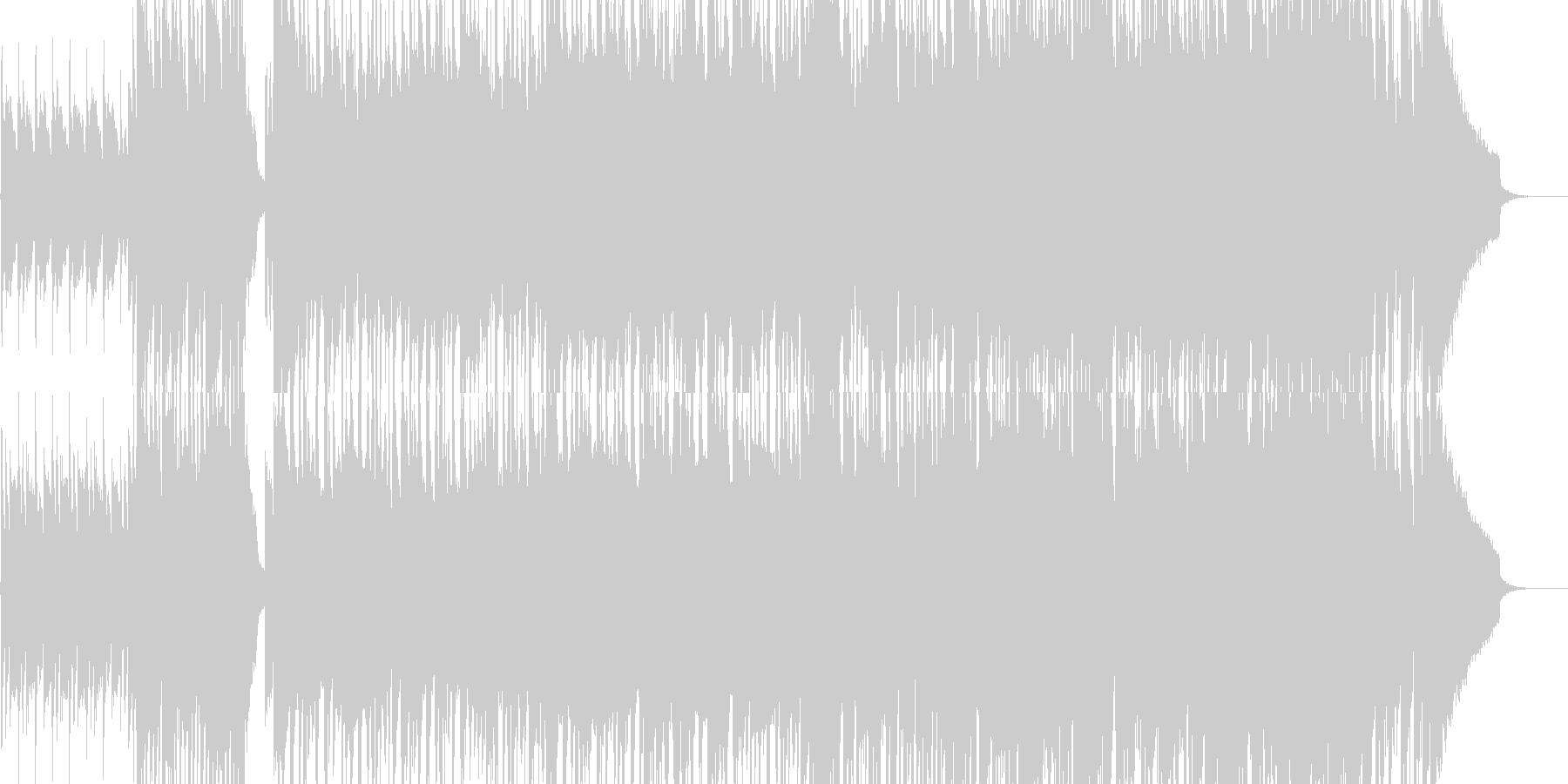 和楽器を使ったロック調ジングルの未再生の波形